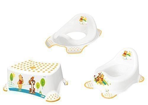 3er Set Winnie Pooh weiß Töpfchen + WC Aufsatz + Hocker Neu