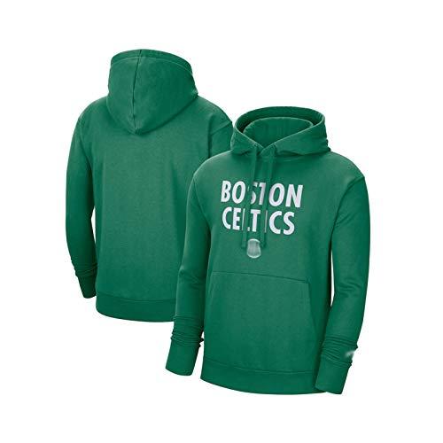 NBNB Celtics 2020/21 City Edition Men's Essential Logo Pullover Hoodie - Green, Kangaroo Pocket Comfort Tops Tops Sudadera Green-L