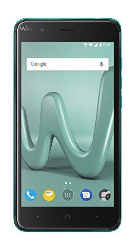 Wiko Harry 12,7 cm (5 Zoll) Smartphone (13MP Kamera, 16 GB internen Speicher, 3GB RAM, Dual-SIM, Android Nougat) türkis
