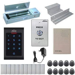 Visionis FPC-5322 One Door Access Control System Outswing Door 300lbs Magnetic Lock with VIS-3002 Indoor Digital RFID Keyp...