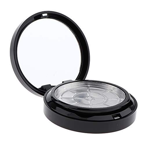 Milageto Envase Pequeño Vacío Cosmético Tarro Vacío Maquillaje Polvo Prensado Estuche Y Espejo - Negro