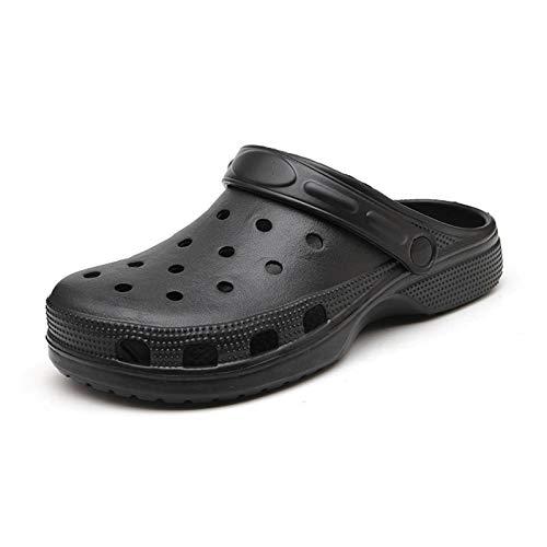 N-B Sandalias para adultos Agujero Zapatos Zuecos de Goma de los Hombres Zapatos de Jardín Playa Plana Hombres Sandalias