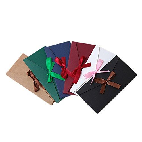 6x Demarkt Umschlag Briefumschlag Versandtasche Briefhüllen aus Papier für Hochzeit Geburtstag Party Geschenk 22 * 11cm