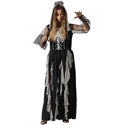 EraSpooky Disfraz de Mujer Esqueleto Disfraces de Halloween Sexy para Adultos Fiesta de Cosplay