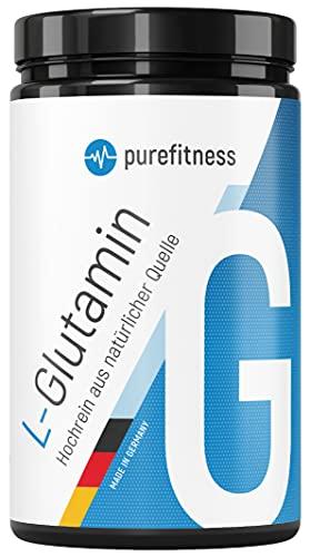PREMIUM L-Glutamin Ultrapure Pulver I 500g I Vegan I 99,95% Reinheit I HOCHDOSIERT I Laborgeprüft I Pflanzlich hergestellt aus Mais-Geschmacksneutral