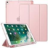 Fintie Funda para iPad Air 10.5' (3.ª Gen) 2019 / iPad Pro 10.5' 2017 con Soporte Integrado para Pencil - Trasera Transparente Mate Carcasa Ligera con Auto-Reposo/Activación, Oro Rosa