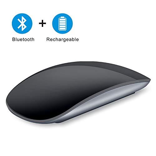 Coener Mouse Bluetooth Touch, Mouse Wireless Silenzioso Sottile Ricaricabile, Mouse Bluetooth Portatile per Laptop/iPad PRO Air (iPad OS 13 e Versioni successive) / MacBook Air (Nero)