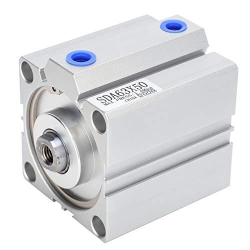 1 unids tipo delgado pequeño espacio ocupación acero inoxidable 63mm cilindro neumático peso ligero cilindro de aire para automático
