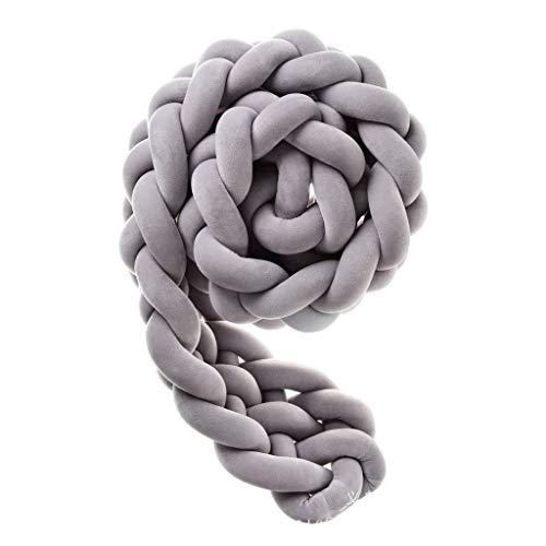 Parures de pare-chocs Soft Baby Bed Weaving Literie | Belle décoration de fleurs de chanvre oreiller cristal doux velours coussin poussette bébé sécurité (Color : #1)