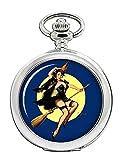 Delicia de la bruja Halloween diseño de chica Pin Up Full Hunter reloj de bolsillo...