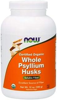 NOW Foods - Whole Psyllium Husks Intestinal Health 100% Certified Organic - 12 oz. ( Multi-Pack)