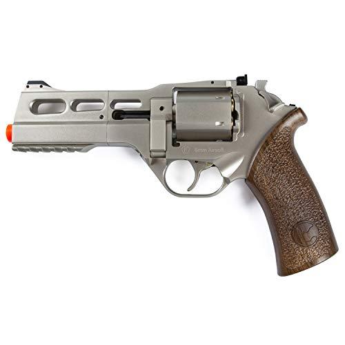 CHIAPPA RHINO 50 DS 357 Magnum Pistola Softair Revolver a C02 Cal 6mm Colore Silver/Nero Full Metal Tamburo da 6 Bossoli Porta Pallini, Regolatore Tacca di Mira Potenza 0,99 Joule Peso 1,1kg
