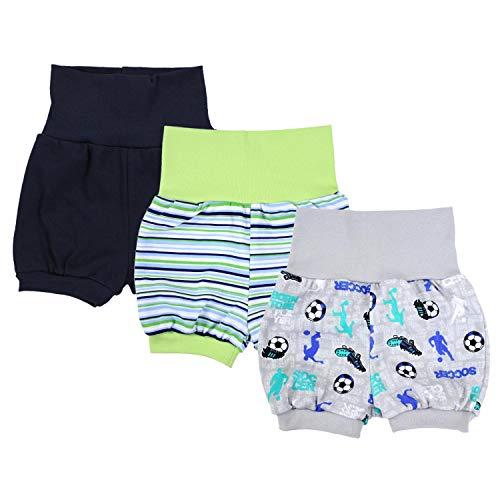 TupTam Baby Unisex Kurze Pumphose Sommershorts 3er Pack, Farbe: Junge, Größe: 80/86
