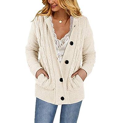 Yacooh Womens Cardigan Sweaters Warm Jacket Fle...