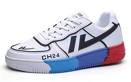 COVERLETWARM Zapatillas de correr para hombre, con cordones, modernas, ligeras, deportivas, informales, para caminar, fitness, color Negro, talla 39 EU