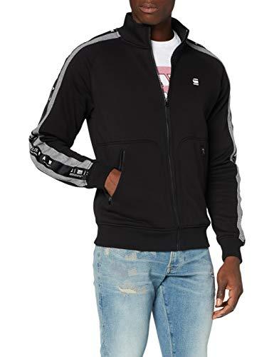 G-STAR RAW Mens Denim Stripe Jacket Cardigan Sweater, dk Black A971-6484, Large