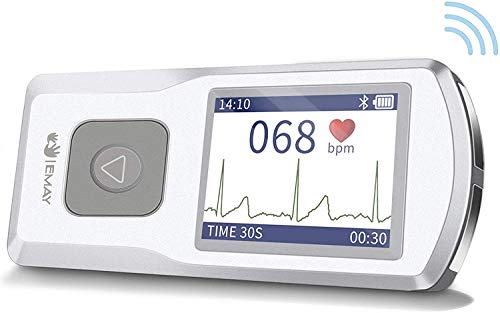 EMAY Portable EKG Monitor | Wireless EKG Monitoring Device with iOS & Android App | Personal ECG Rhythm & Heart Rate Monitor for Home Use | Works with Smartphone and PC