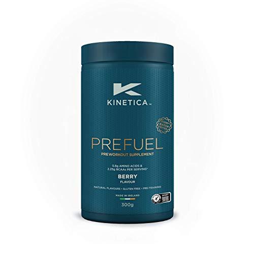 Kinetica PreFuel Pre-Workout Pulver Berry 300g, Pre-Workout Booster für Sportler, Für die Anwendung vor dem Training, Zuckerfrei, Inkl. Messlöffel, Gute Löslichkeit u. reiner Geschmack