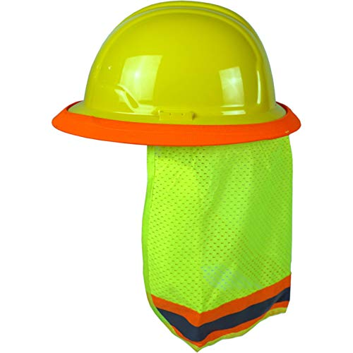 BEST EVER PRO-MADE X1 Hard Hat Sun Shade. Premium Neck Shield with Secure-Fit Fasteners & Built In Sweat Towel. Fits Full & Standard Brim Safety Helmets. For Construction Use. Hard Hat Not Included