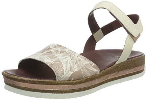 THINK! Damen ZEGA_3-000356 nachhaltige Flache Sandale, 4000 Hibiskus/Kombi, 40 EU