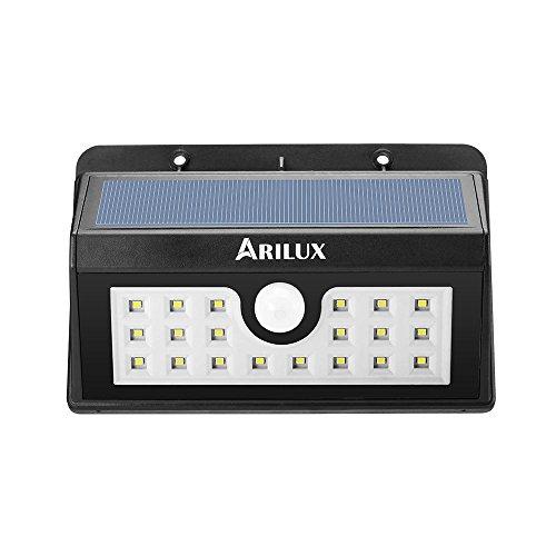 Bazaar ARILUX™ AL-SL02 alimenté 20 LED waterproof pir capteur de mouvement mur extérieur lumière solaire sans fil