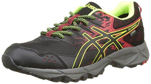 Asics Gel-Sonoma 3 G-TX, Zapatillas de Running para Asfalto para Hombre, Amarillo (Vermilion/Black/Safety Yellow), 43.5 EU