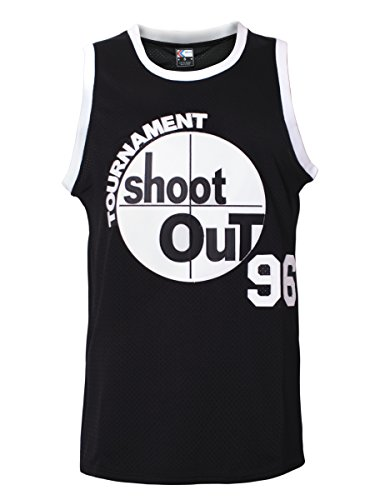 MOLPE Men's 96 Tournament Shootout Jersey Basketball Jersey S-XXXL Black (L)