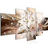 Runa Art - Bilder Blumen Lilien 200 x 100 cm 5 Teilig XXL