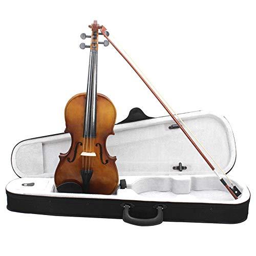 good01 4/4 Violine Geige Übungsfiddle mit Koffer Bogen für Anfängerabstand multi