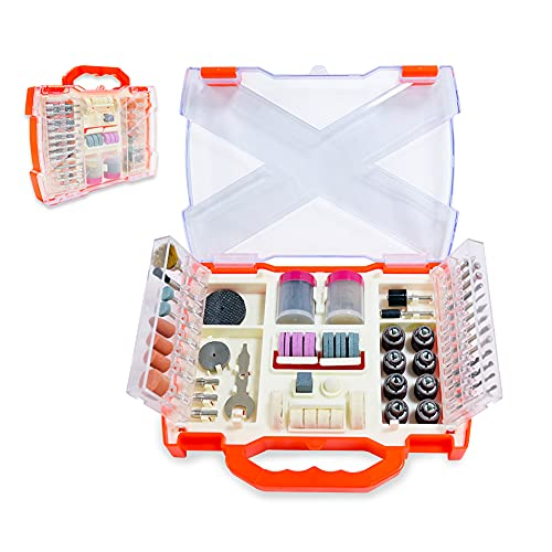 Luckyway 145-Piece Rotary Tool Accessories Kit, Grinding Polishing Drilling Kits, 1/8