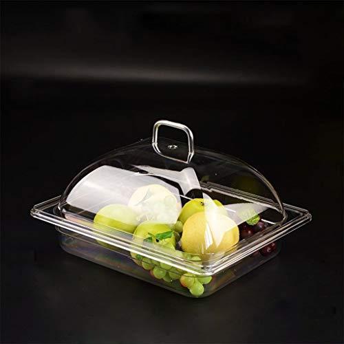 PETAAA kunststof set voor fruit, rechthoekig, voor cake, conservering, 4 maten