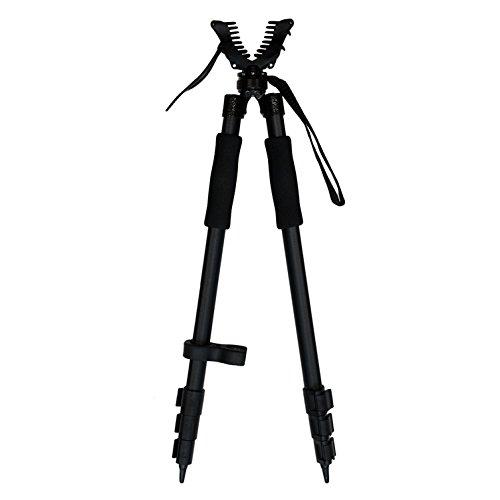 XGear Outdoors Lightweight Aluminum Shooting Stick Bipod Gun Rifle Pod, with Height Adjustable from...