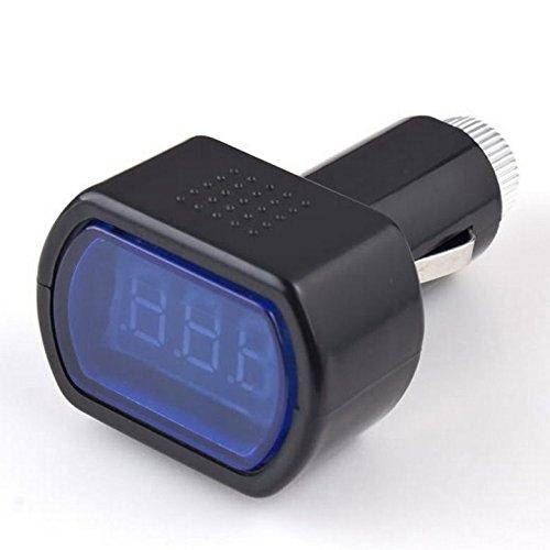H HILABEE Autobatterie Elektro Zigarettenanzünder Voltmeter Voltage Meter Gauge Tester
