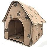 Cama para gatos con calefacción autónoma, tienda de campaña de forro polar plegable, cama para gatos y perros pequeños