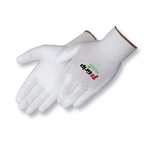 Liberty P-Grip Ultra-Thin Polyurethane Palm Coated Plain Knit Glove with 13-Gauge White Nylon/Polyester Shell, X-Large, White (Pack of 12)