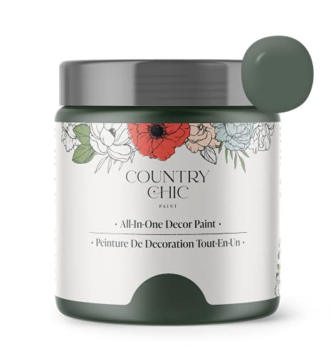 Chalk Style Paint - for Furniture, Home Decor, Crafts - Eco-Friendly - All-in-One - No Wax Needed (Hollow Hill [Dark Green], Pint (16 oz))