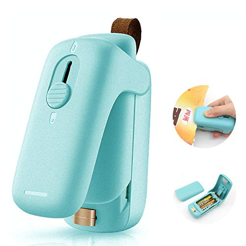 Bag Sealer, Handheld Heat Vacuum Sealer,2 in 1 Heat Sealer and Cutter Handheld Portable Bag Resealer Sealer for Bags Sealer,Plastic Food Storage Bags, Snack & Cereal Bags ( 2 AA Battery Included)