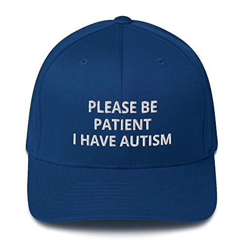 JAC MERCH PRODUCTS Please Be Patient I Have Autism Cap Royal Blue