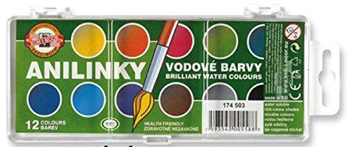 174503 Koh-I-Noor Brilliant Watercolours (12 Colours) (Each)