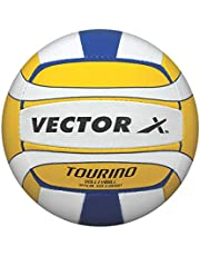 Vector X Tourino Volleyball 32 Panels (White-Yellow-Blue), 4
