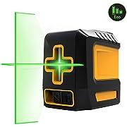 Laser Level, 98ft Green Self-Leveling Laser Level with Magnetic Base, with Adjustable Lightness Line Cross Laser Level for Picture Hanging - KAIWEETS T03