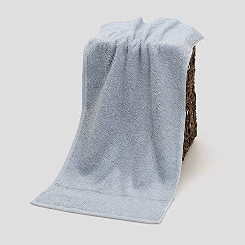 IAMZHL Toallas faciales de algodón 33 * 72cm Toalla de baño Pura y Gruesa Absorbente Toallas de Ducha de Mano para el baño Hotel en casa para Adultos-Grey-33x72cm