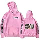 Sudadera Unisex para Mujer 2D Charli D'Amelio con Bolsillo y Capucha Hype House Pullover Sudaderas para Niñas, Pink Photo/S