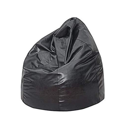 Sheeouis Funda para sofá grande y pequeño sin relleno de tela de lino para tumbona, puf, puf, puf, puf, puf, puf y sala de estar (color: negro, tamaño: 90) (color: negro, tamaño: 90)