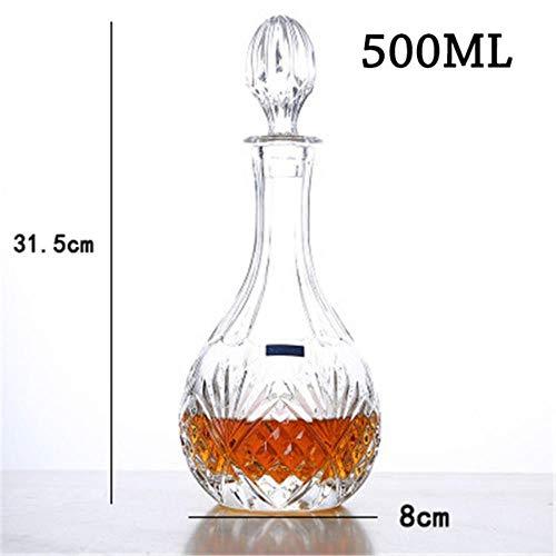 XCVB glas wijnfles whisky karaf alcohol container schenktuit wijnkaraf kristallen glas Home Bar Rode wijnfles
