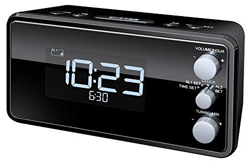 Terris RW 564 PLL UKW Uhrenradio 20 Senderspeicher LED-Display Radiowecker schwarz