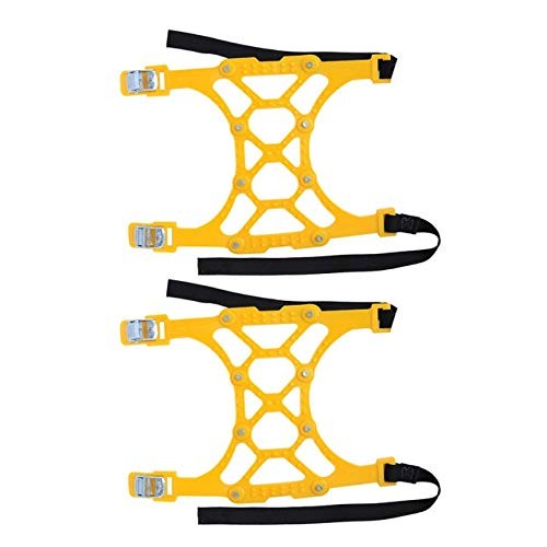 WY-YAN Cadena 2pcs del coche Nieve cadena doble hebilla nieve cadena de nieve del neumático de nieve TPU engrosamiento antideslizante emergencia universal caliente de la venta (Color Name : Yellow)