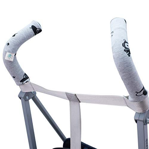 Janabebe Housse de protection universelle pour guidon, poignée de poussette (Robot Space)