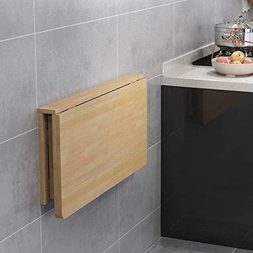 CZYNB Mesa de Cena de Cocina casera, Mesa Plegable de Madera Maciza de Pared, Carga Pesada y Estable y fácil de Limpiar (Size : 20'x12'/50x30cm)