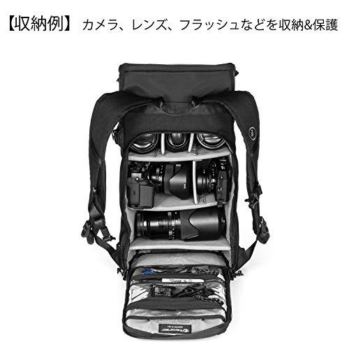 【国内正規品】 tamrac カメラバッグ ナガノ 12 バックパック ブラック 小型一眼/ミラーレス収納 12L T1500-1919